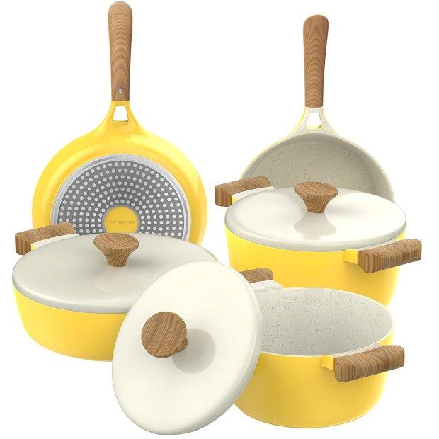 Vremi Yellow Cookware Set
